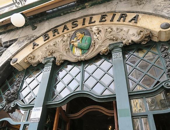 Португальская кофейня  Cafe A Brasileira Do Chiado.
