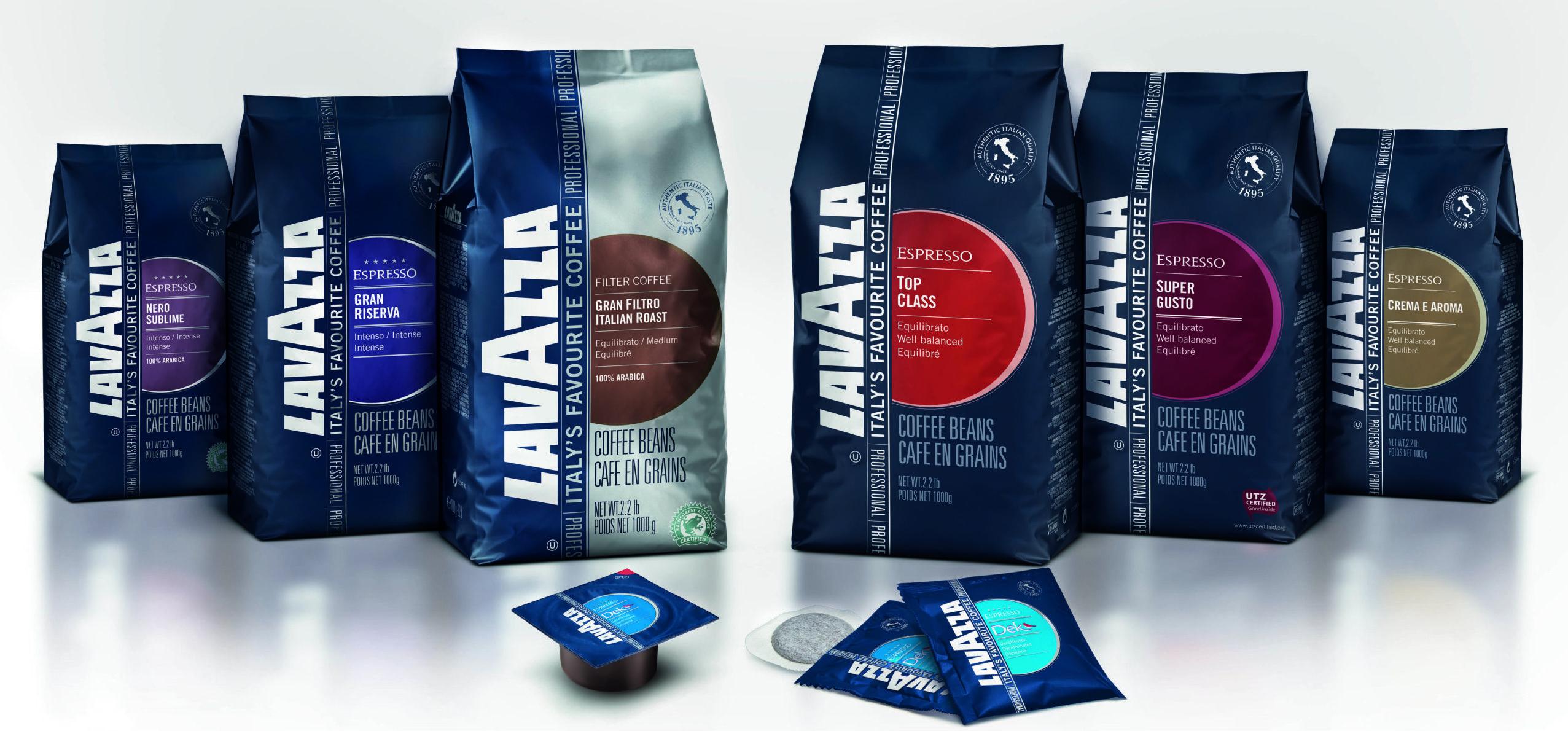 Ассортимент кофе Lavazza